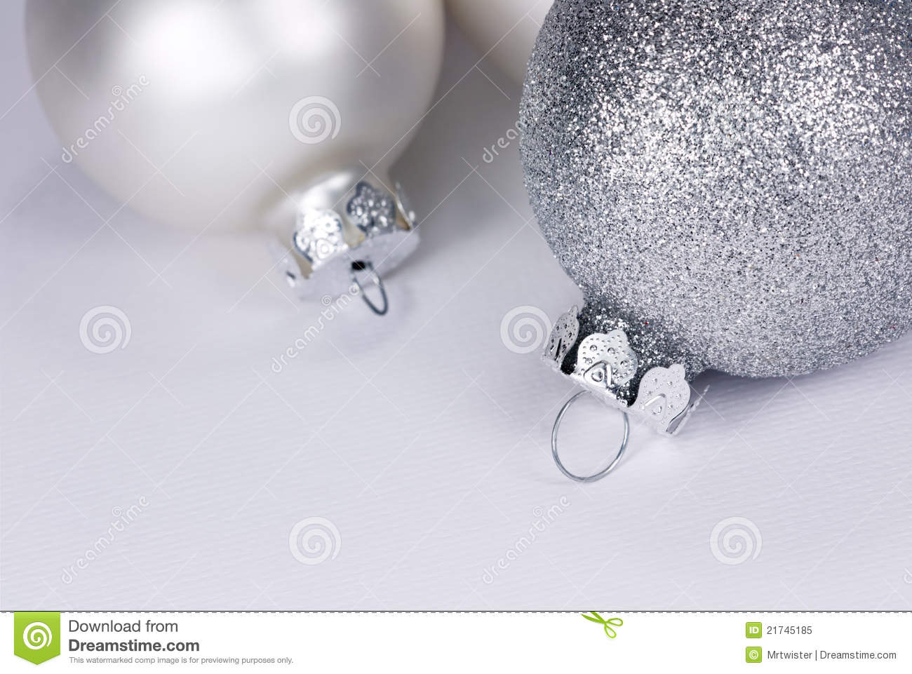 White christmas baubles royalty free stock photo image for White christmas baubles