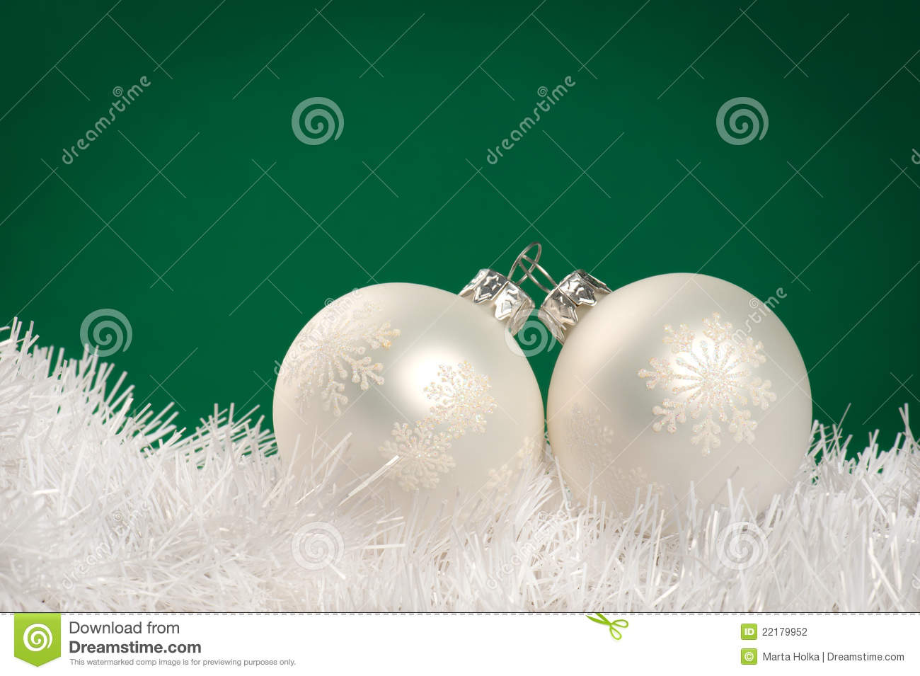 White christmas baubles stock photography image 22179952 for White christmas baubles