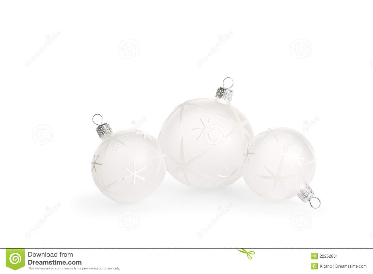 White christmas baubles stock image image 22262831 for White christmas baubles
