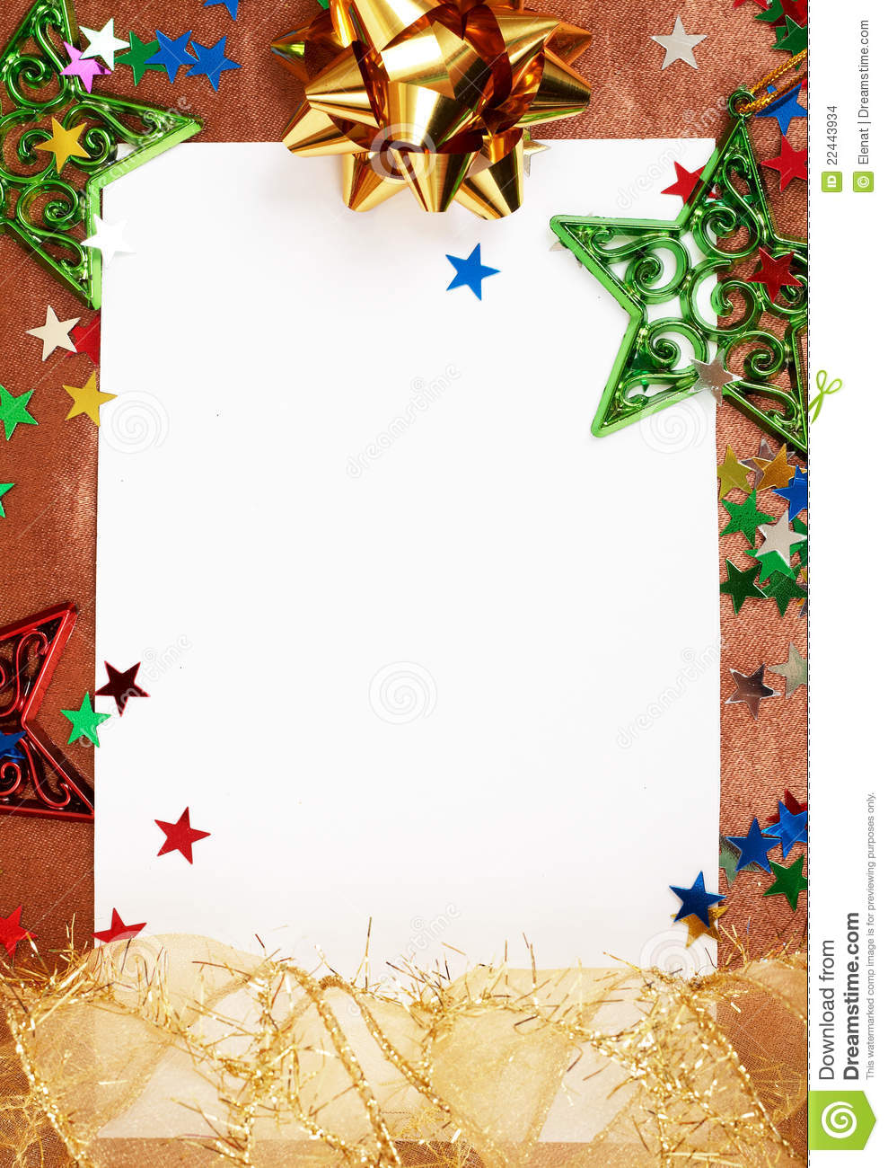 white christmas card with decorations stock photo image of