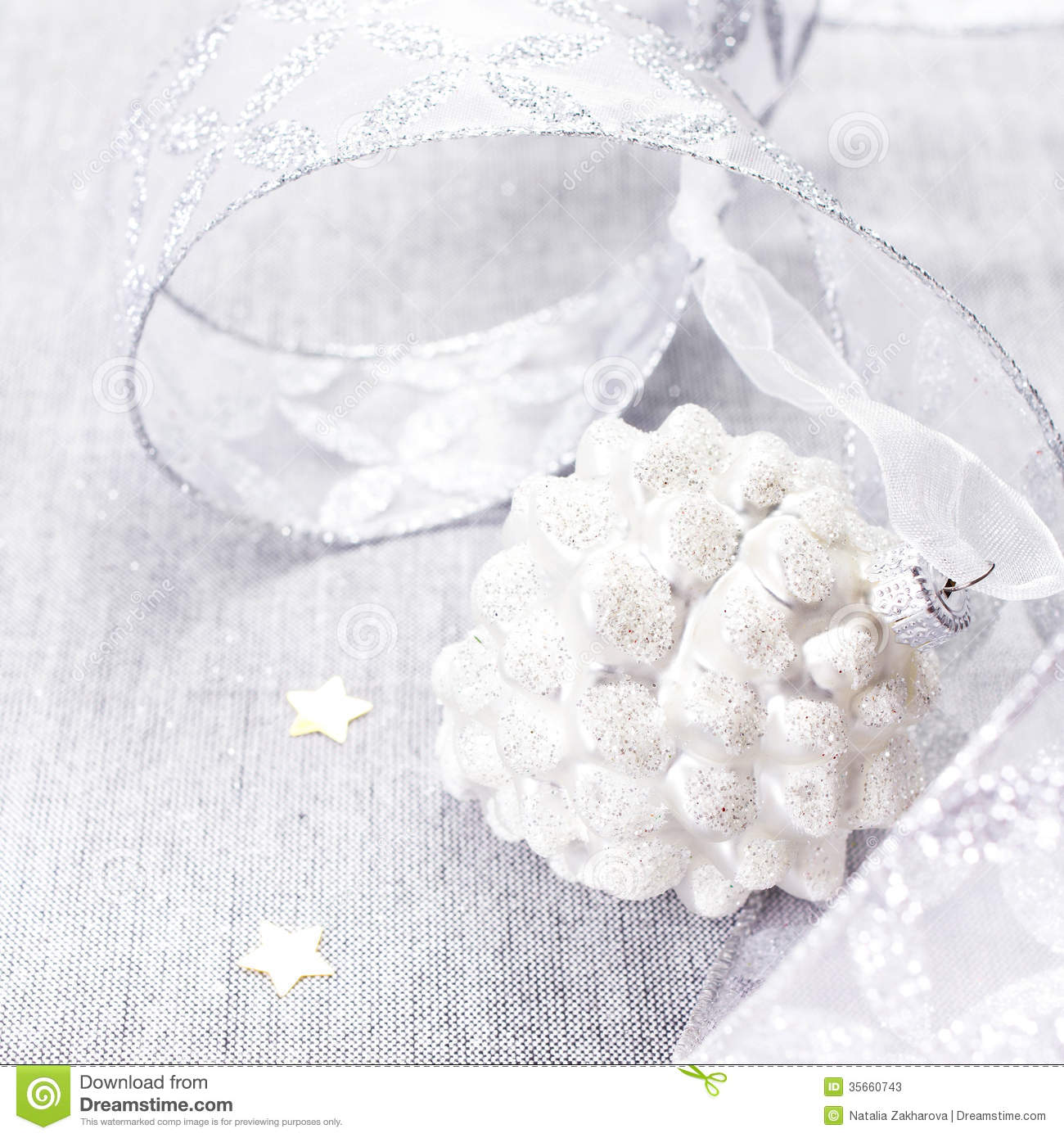 White christmas christmas decorations with white ball and silve stock image image 35660743 - Silver and white christmas ...