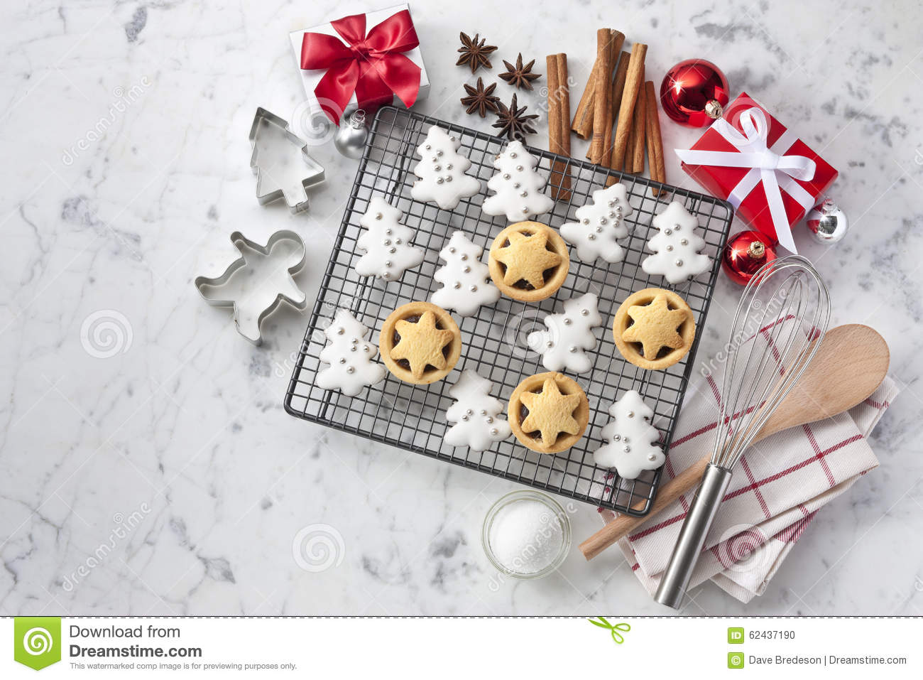 christmas baking background with - photo #39