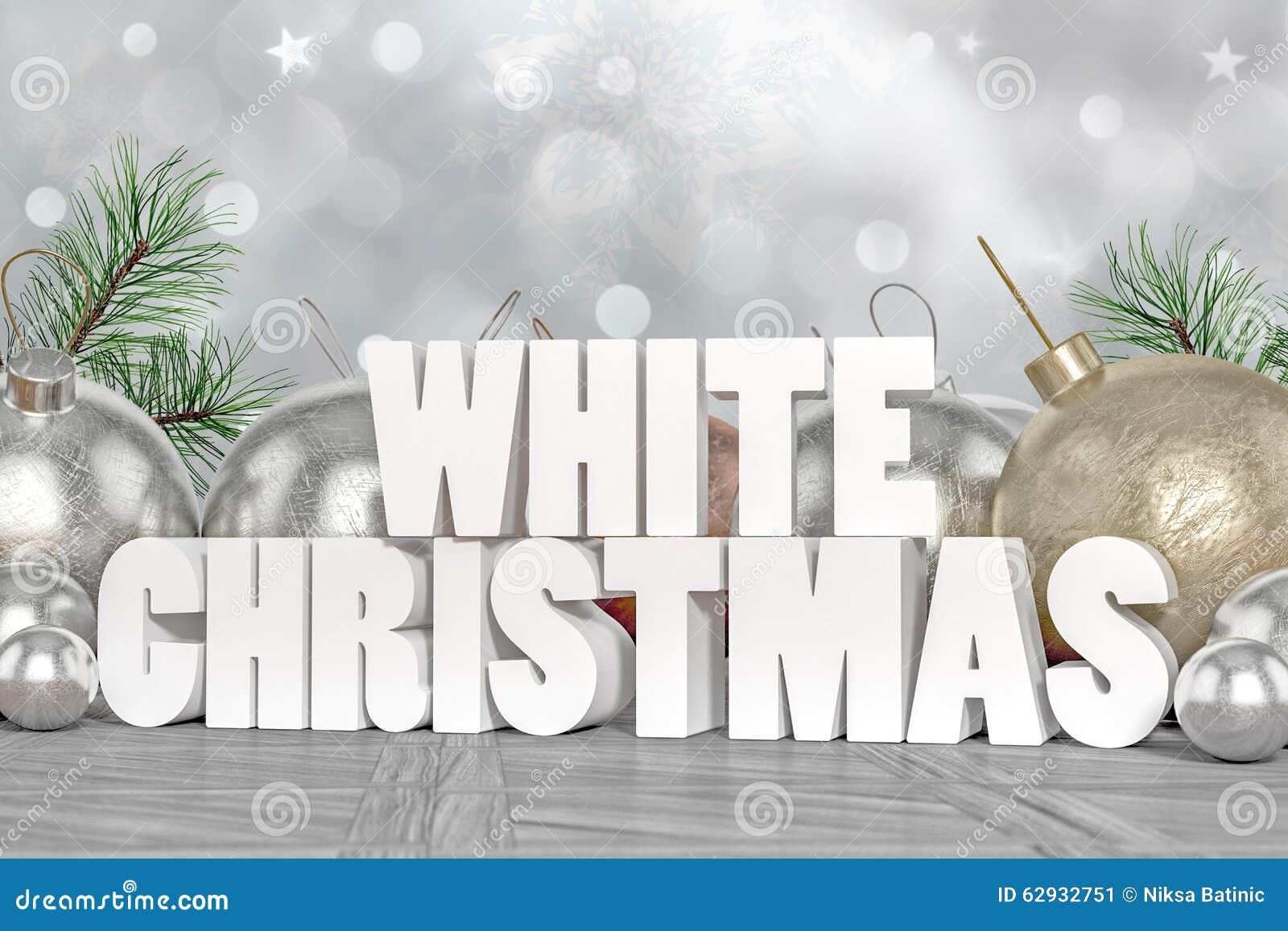 White Christmas 3D Tex...