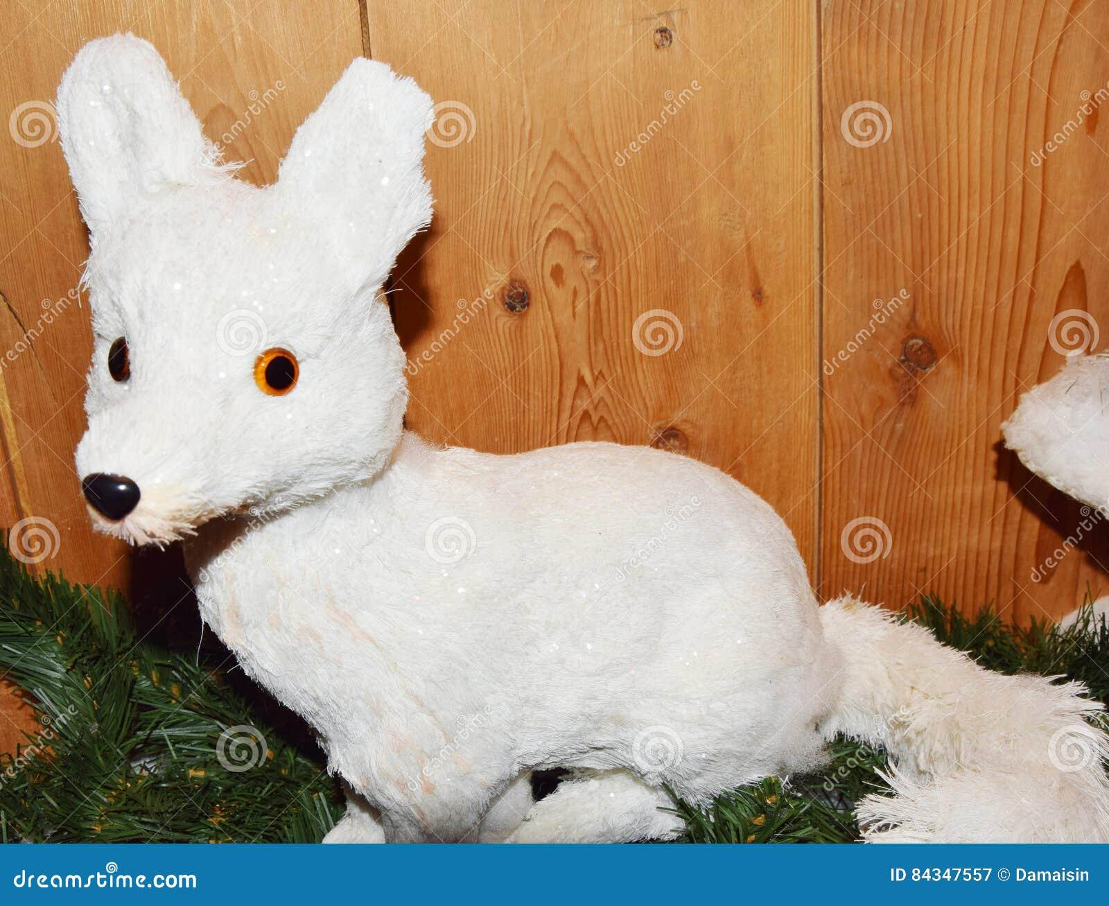 White Christmas Fox Stock Photo - Image: 84347557