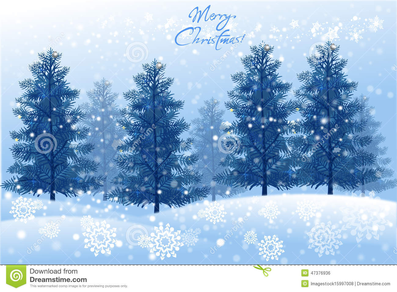 White christmas landscape with winter tree vector eps10 for Christmas landscape images