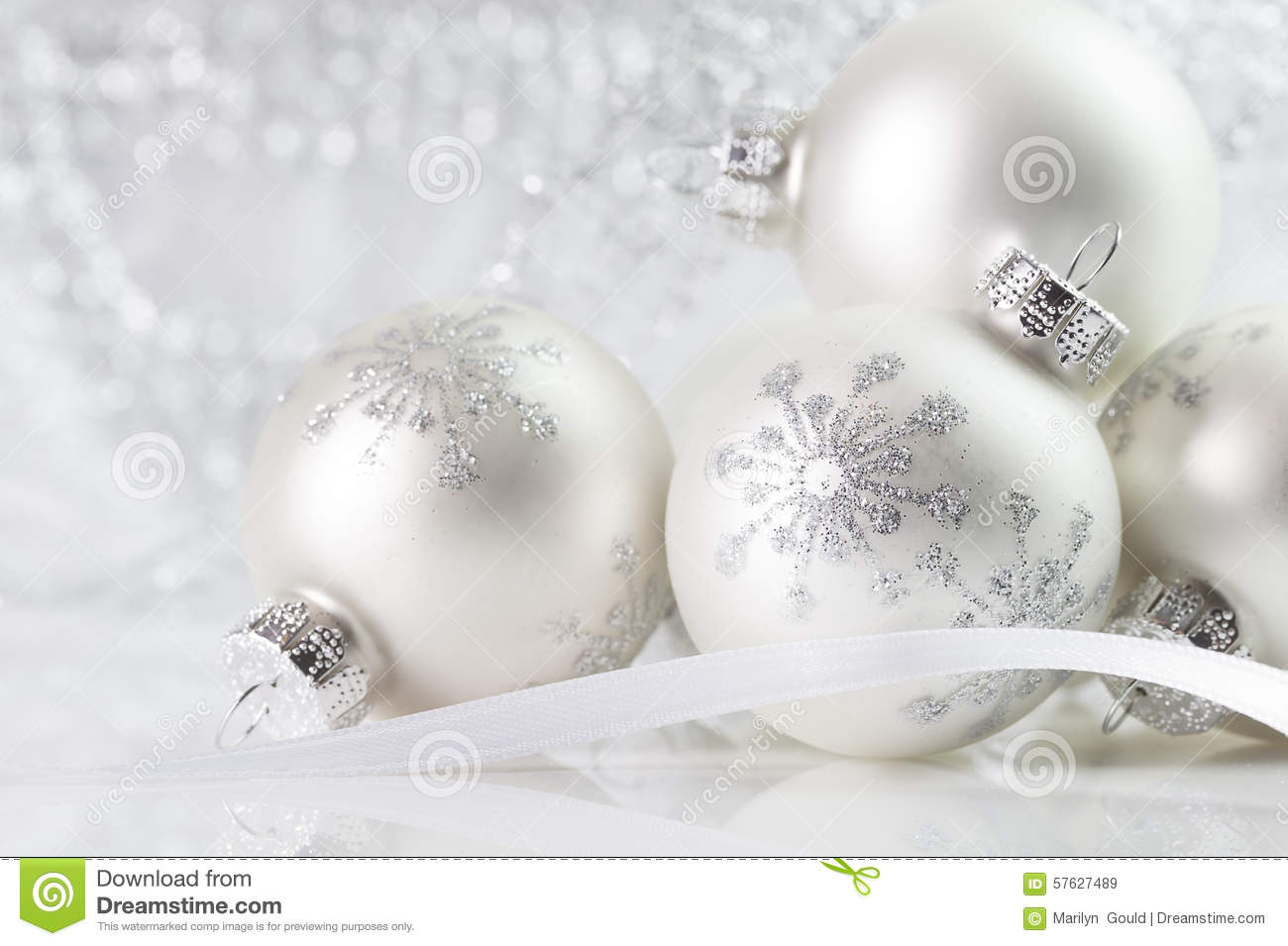 White christmas decorations - Royalty Free Stock Photo Download White Christmas Ornaments
