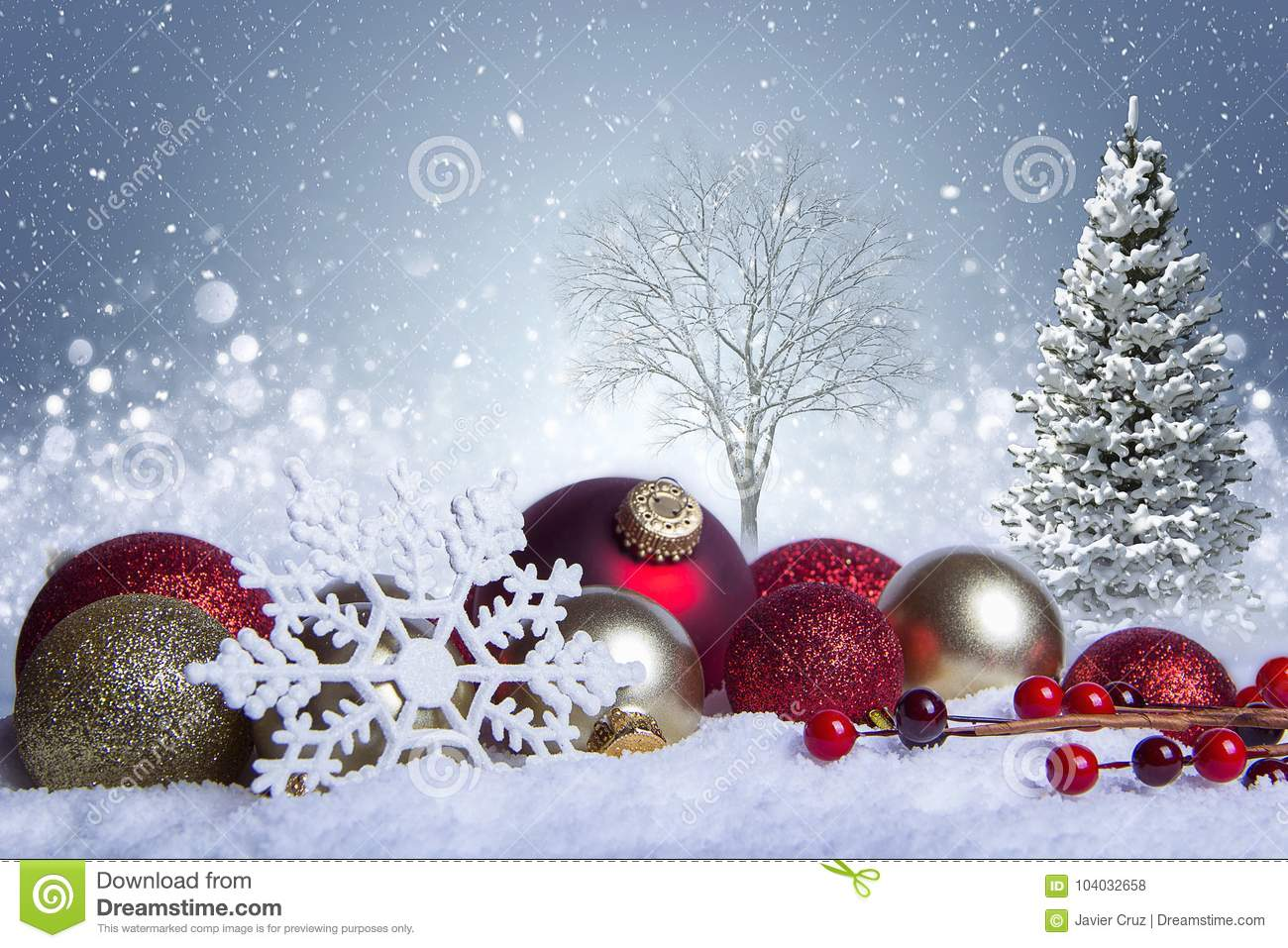 Christmas Scenes Images.White Christmas Scene Concept Stock Photo Image Of Xmas