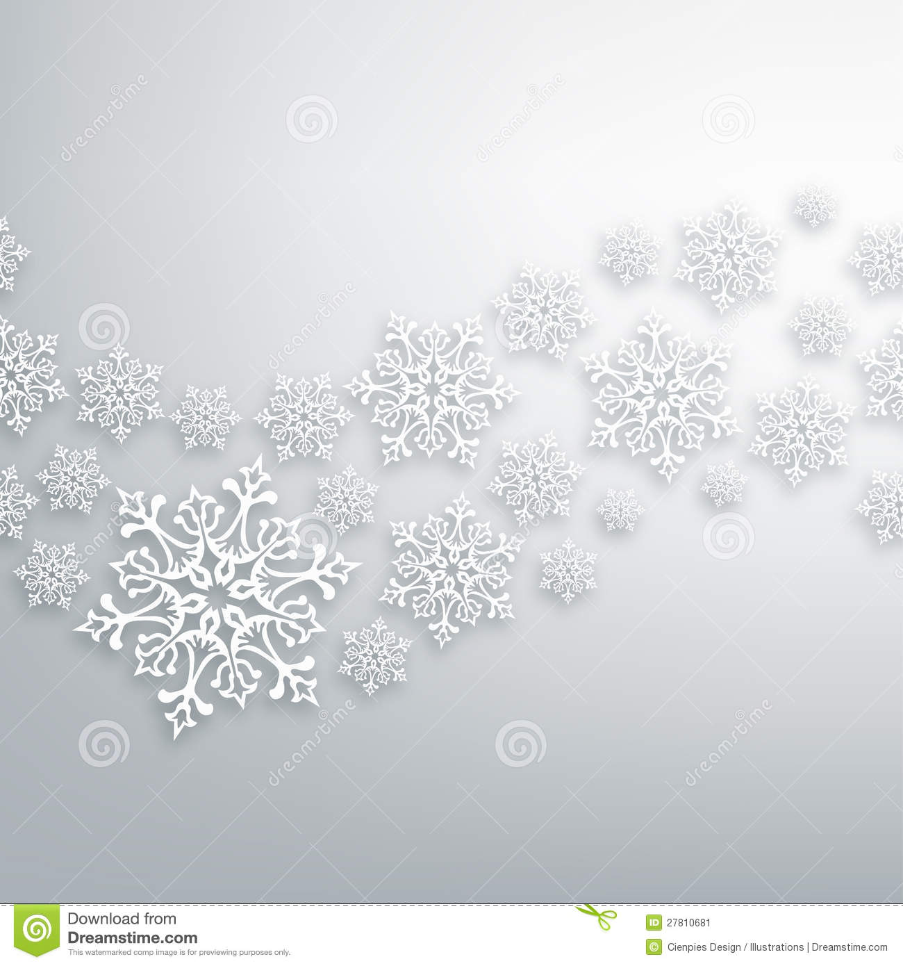With white christmas background and snow vector vector background - White Christmas Snowflakes Pattern Stock Image Image