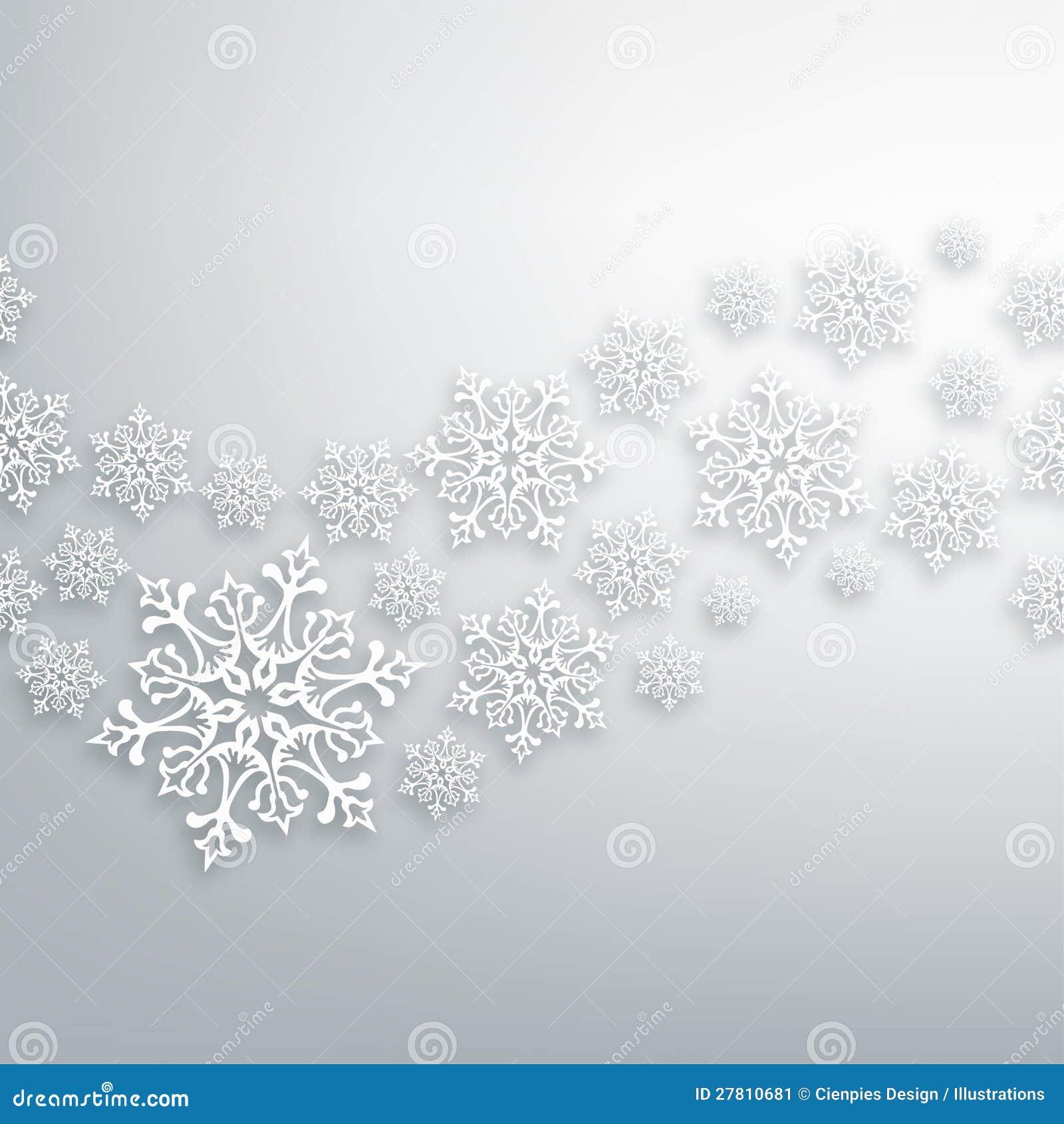 White Christmas Snowflakes Pattern Stock Image Image