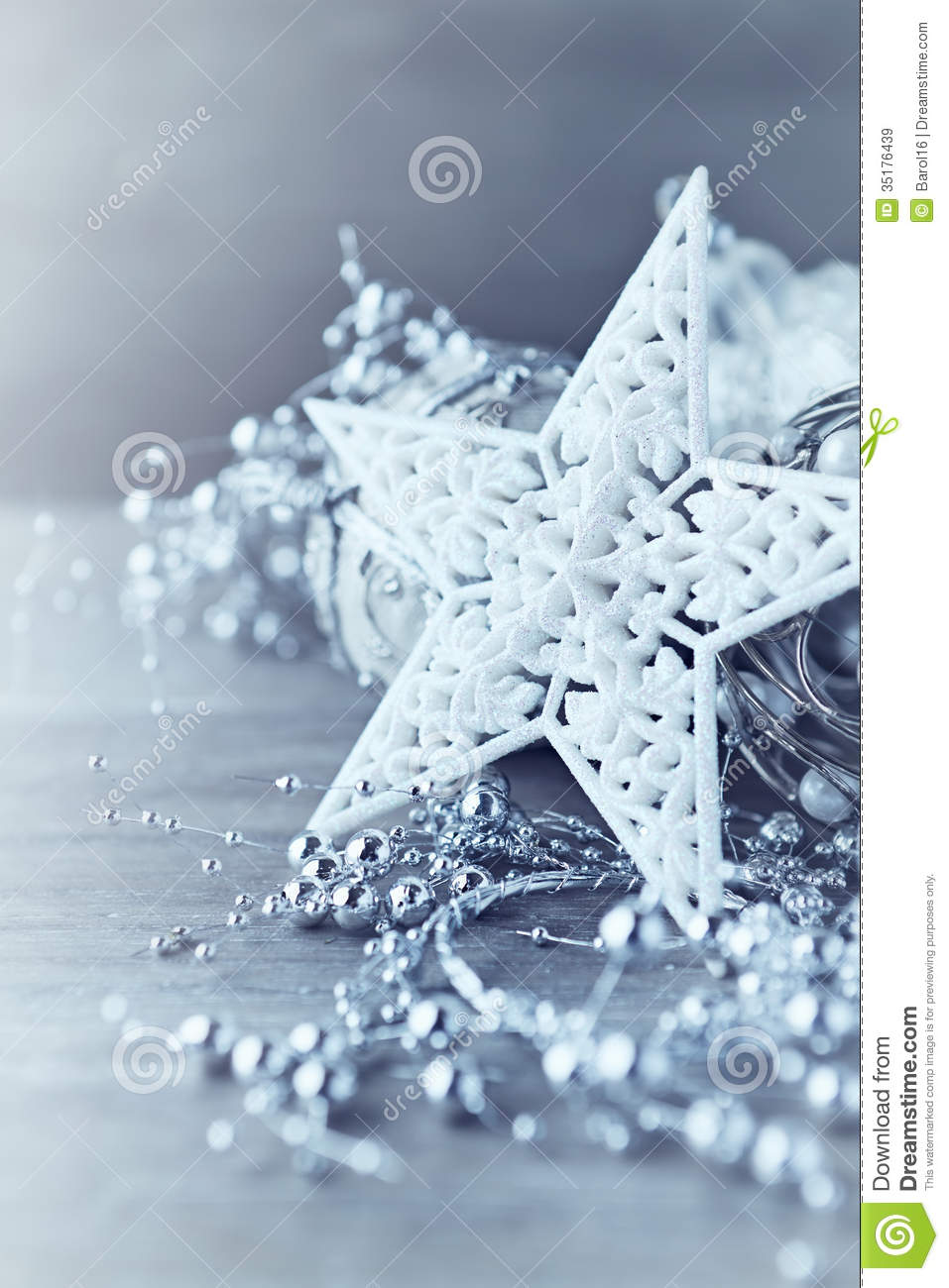 White christmas star stock image image of ornament shiny 35176439 - Silver and white christmas ...
