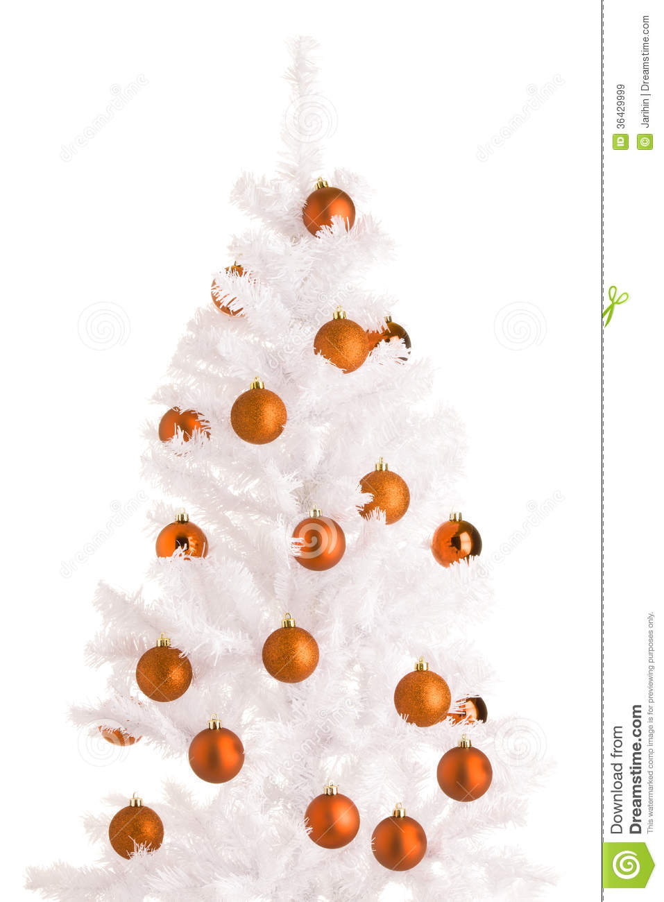 royalty free stock photo download white christmas tree - Orange Christmas Tree