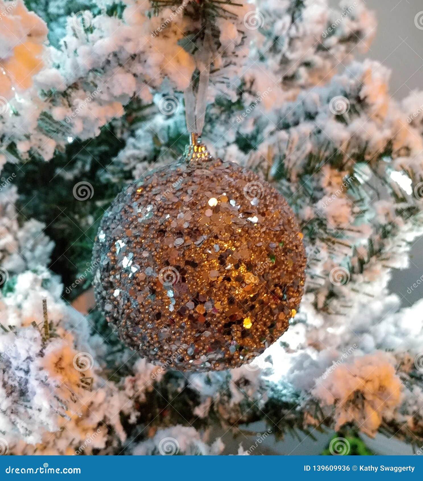 White Christmas Tree Ornaments Glam Glitter Stock Photo Image Of Tree Background 139609936