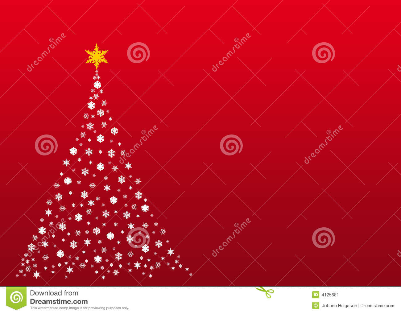 White Christmas Tree On Red Stock Illustration Illustration Of