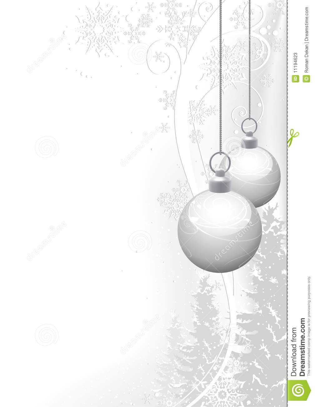 White Christmas and winter floral