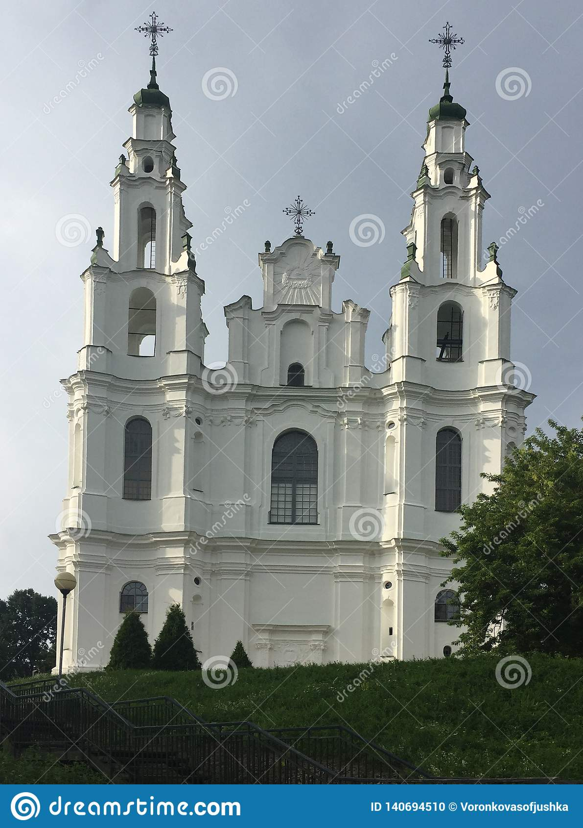 White Church in Polotsk Belarus