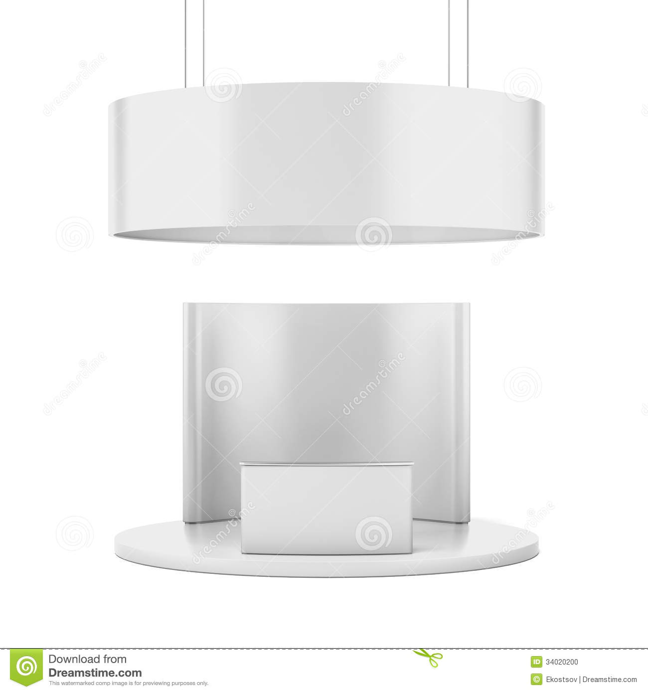 Exhibition Stand Circle : White circle exhibition standtion stand stock photo