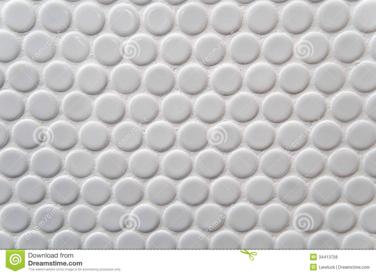 White Circle Tile Pattern Stock Photo Image Of Brick
