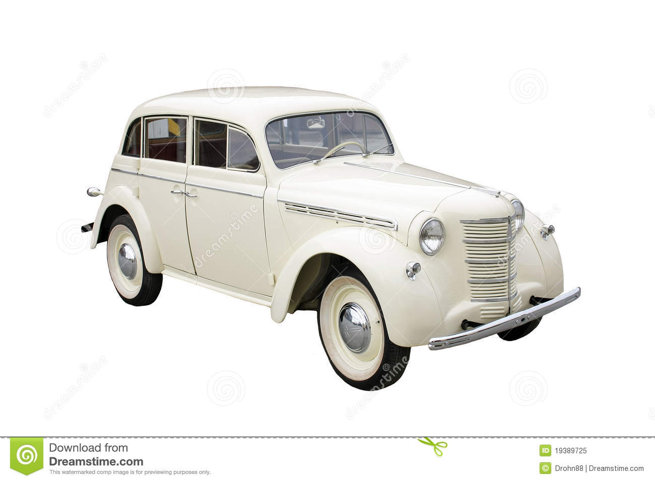 White Classic Car Royalty Free Stock Photo Image