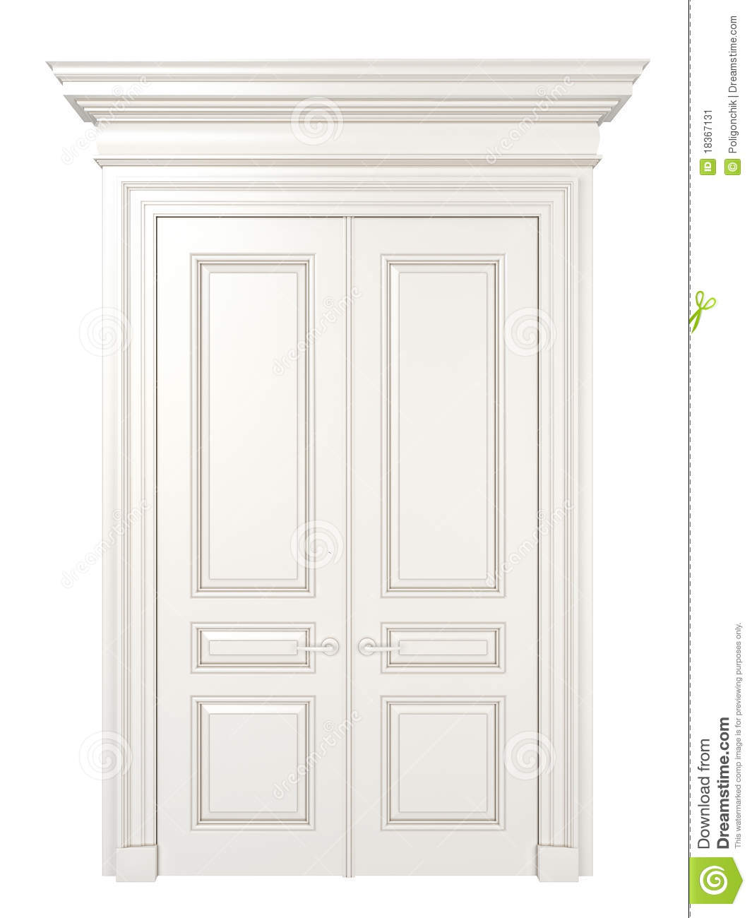 Royalty-Free Stock Photo  sc 1 st  Dreamstime.com & White classic door. stock illustration. Illustration of nobody ...