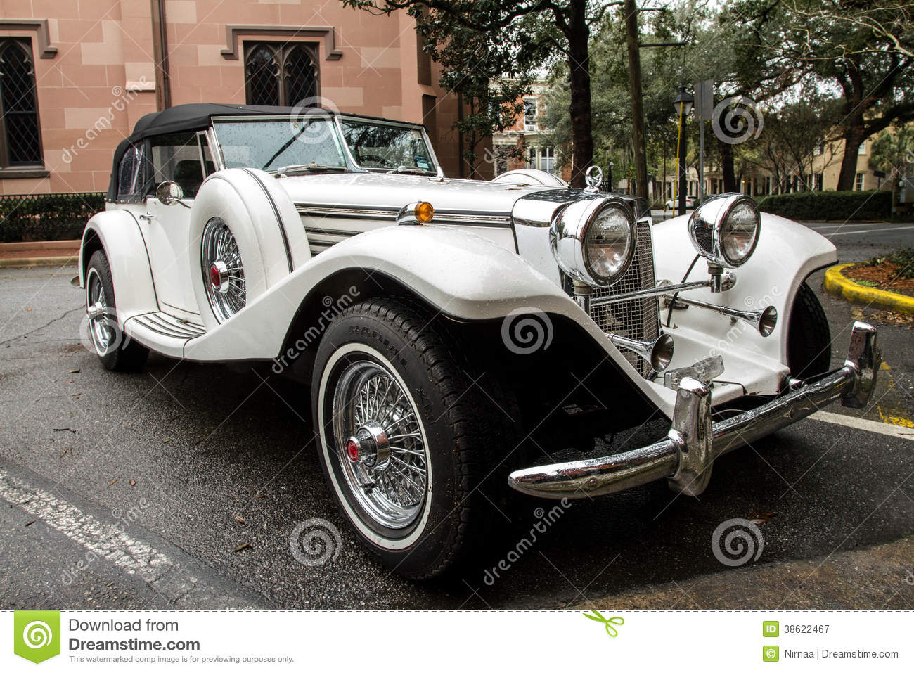 Antique classic luxury sports car.