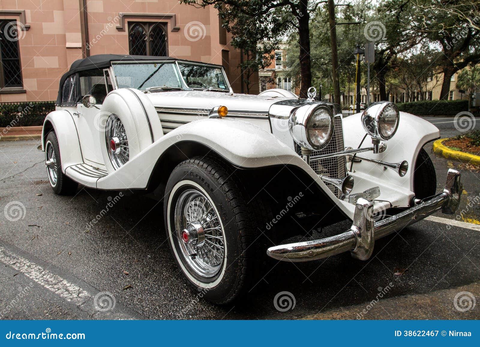 Antique classic luxury sports car.