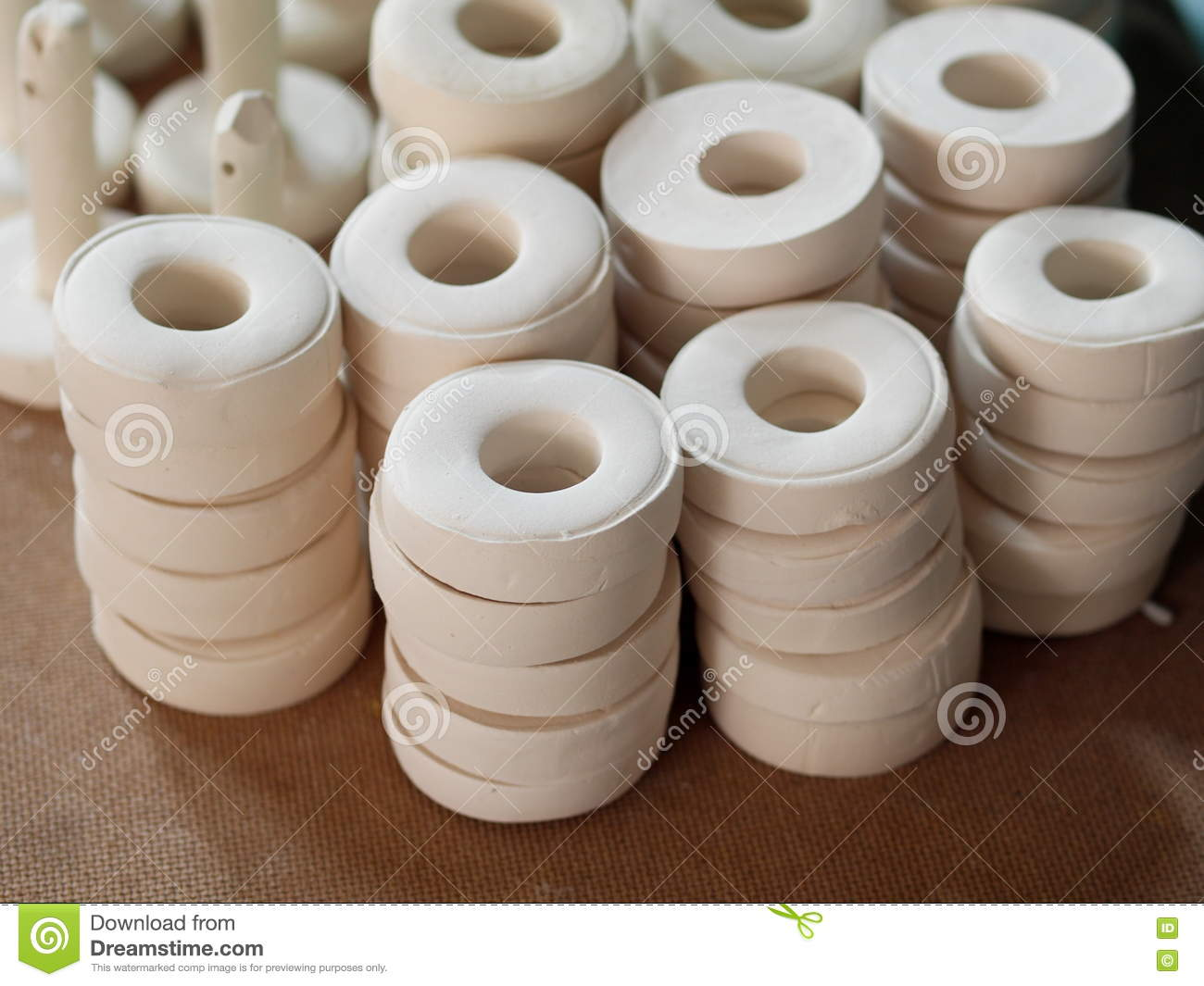 Factory Of Ceramic Clay Royalty Free Stock Photo