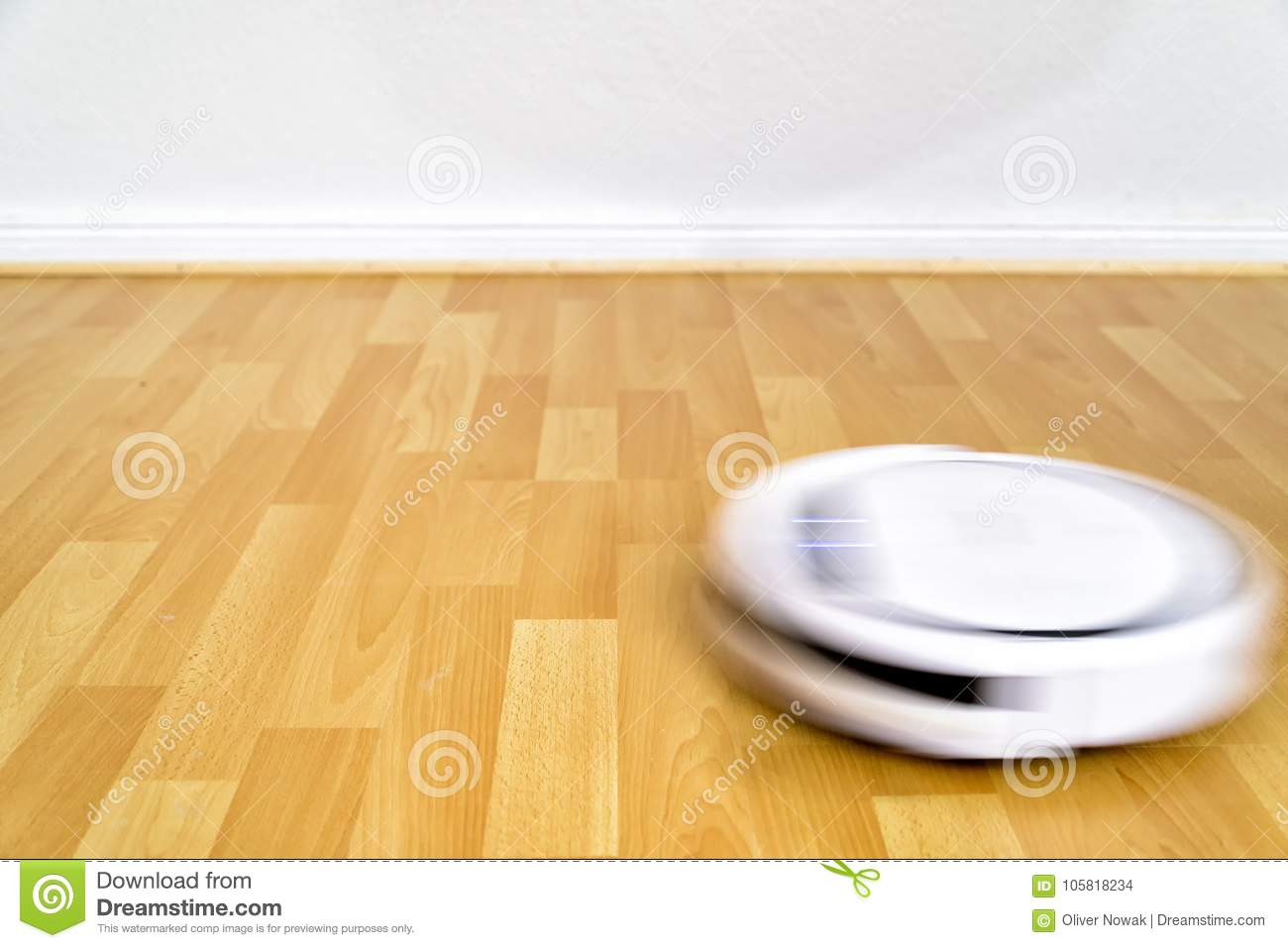 Cleaning Robot On The Floor Stock Photo - Image of clean