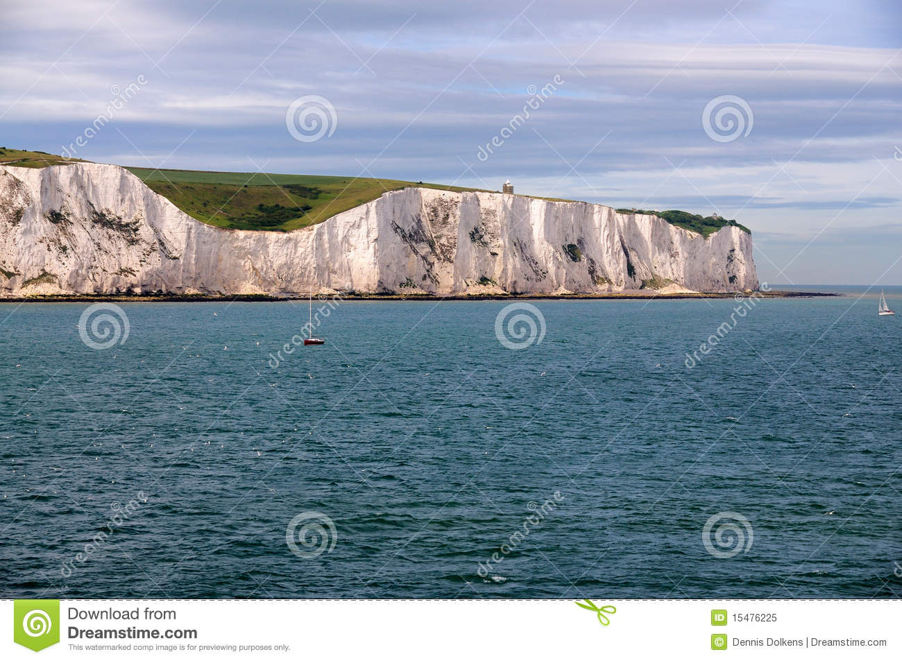 Download White Cliffs Of Dover From Sea Stock Image - Image of sailing, water: 15476225