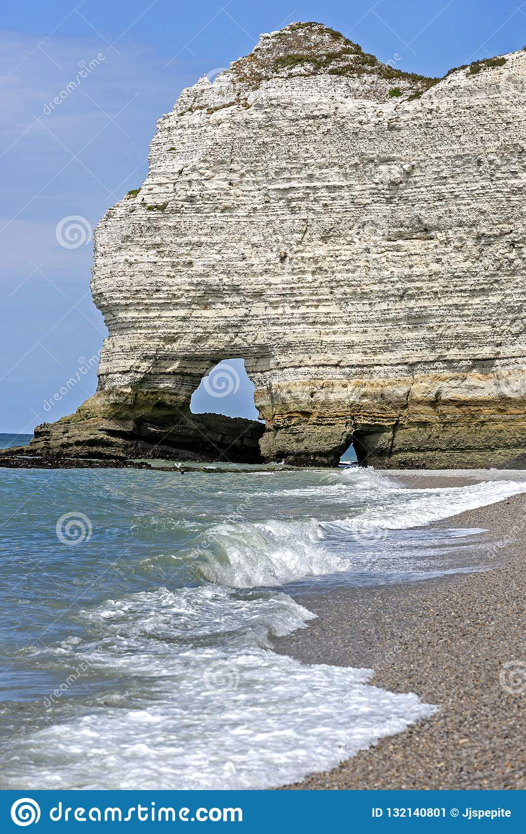 White Cliffs Of Etretat Normandy France Stock Image Image Of