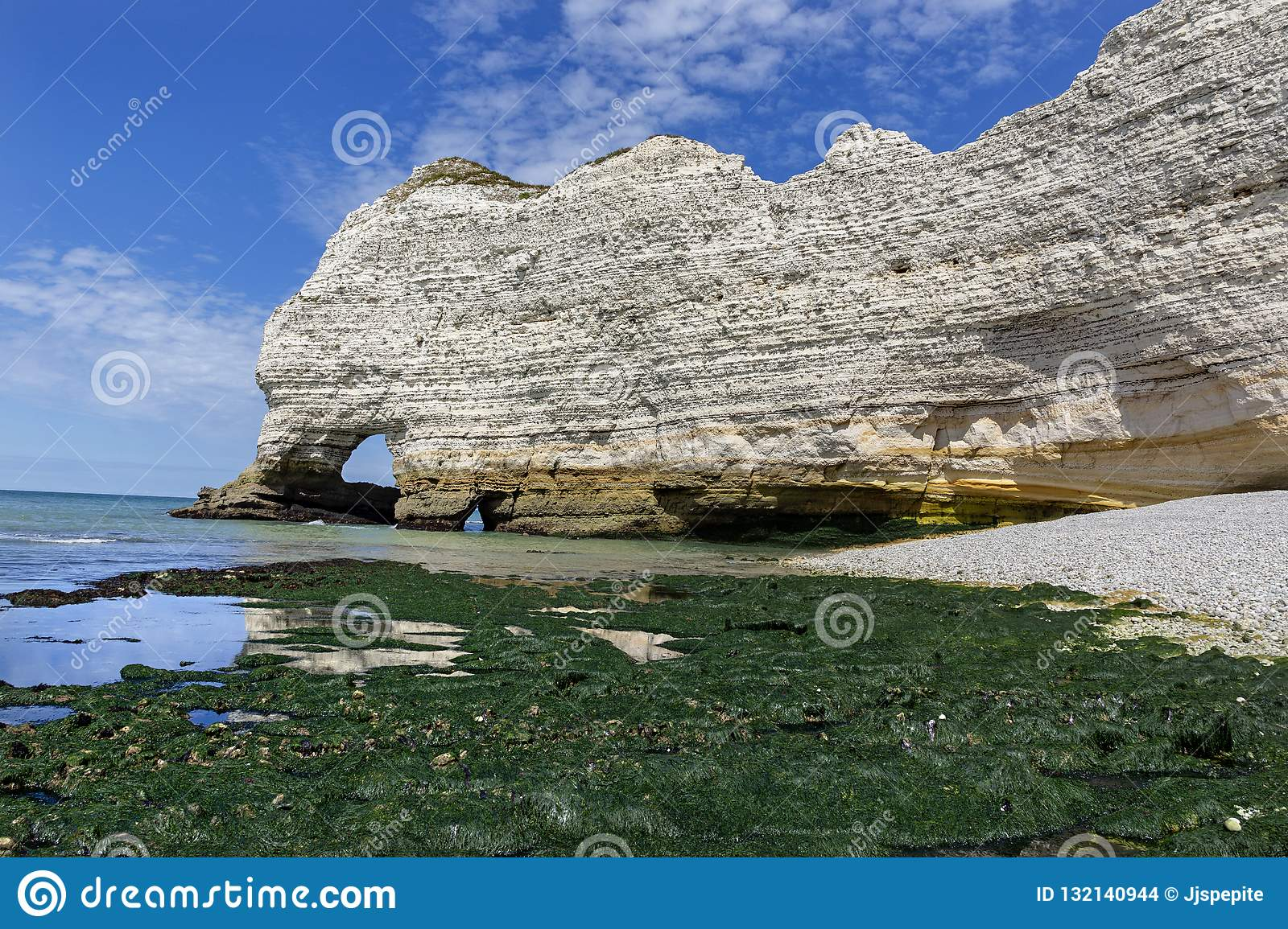 White Cliffs Of Etretat Normandy France Stock Photo Image Of