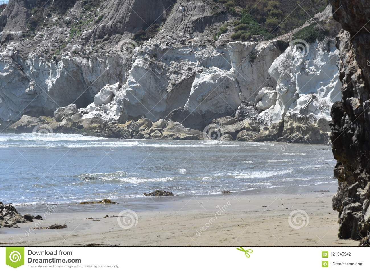 The White Cliffs At Pismo Beach  Stock Photo - Image of