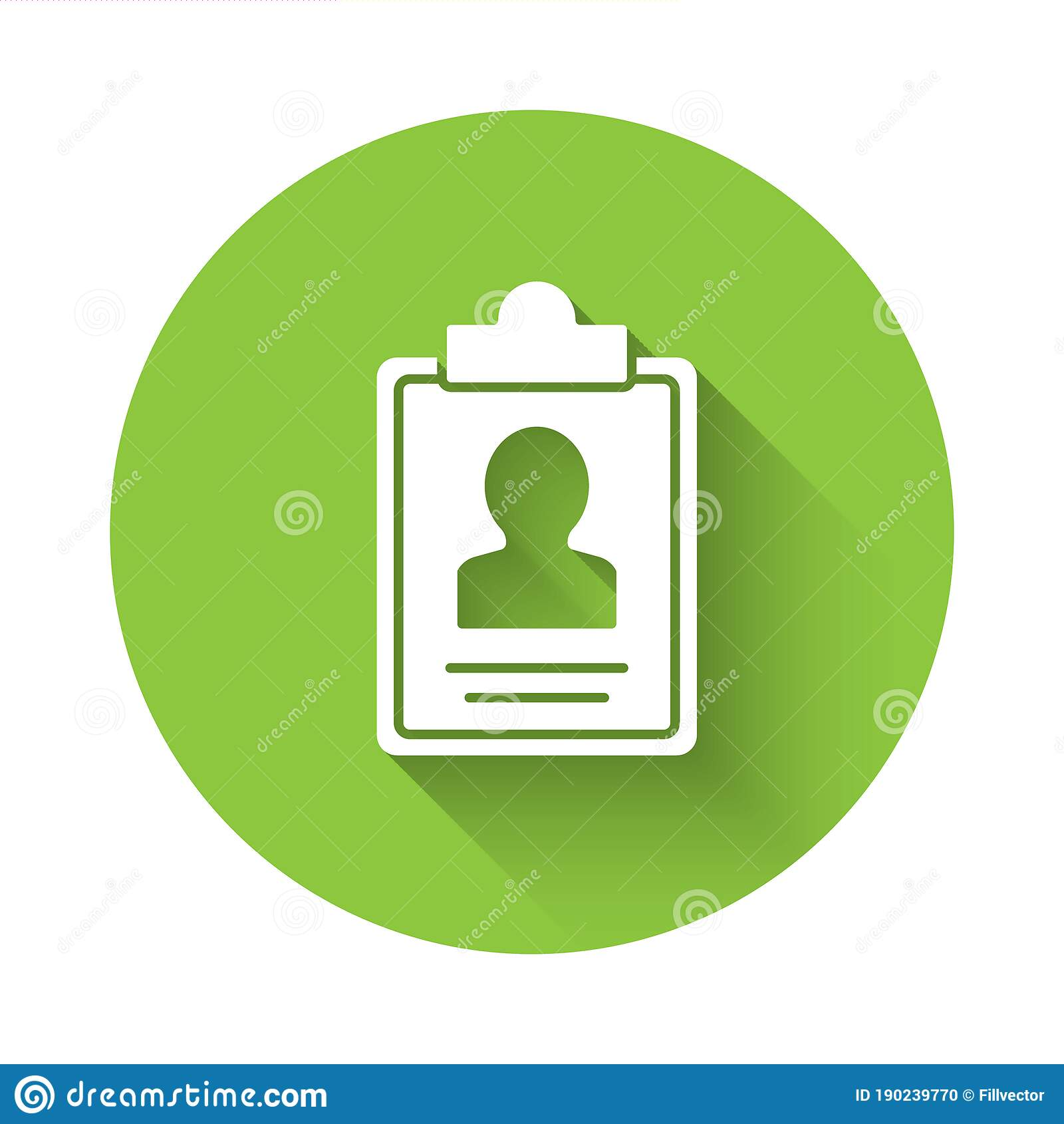White Clipboard With Resume Icon Isolated With Long Shadow Cv Application Curriculum Vitae Job Application Form With Stock Vector Illustration Of Concept Candidate 190239770