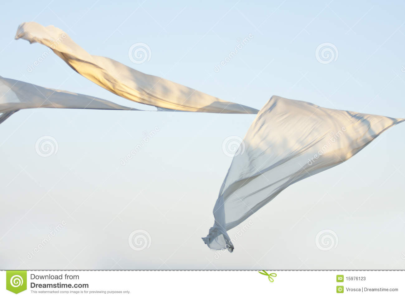 White Clothes To Dry In The Wind Blows Stock Photos