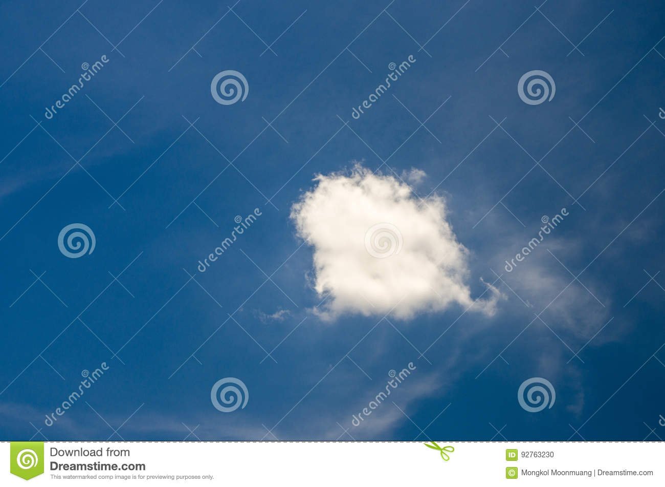 White clouds floating in the sky at daytime