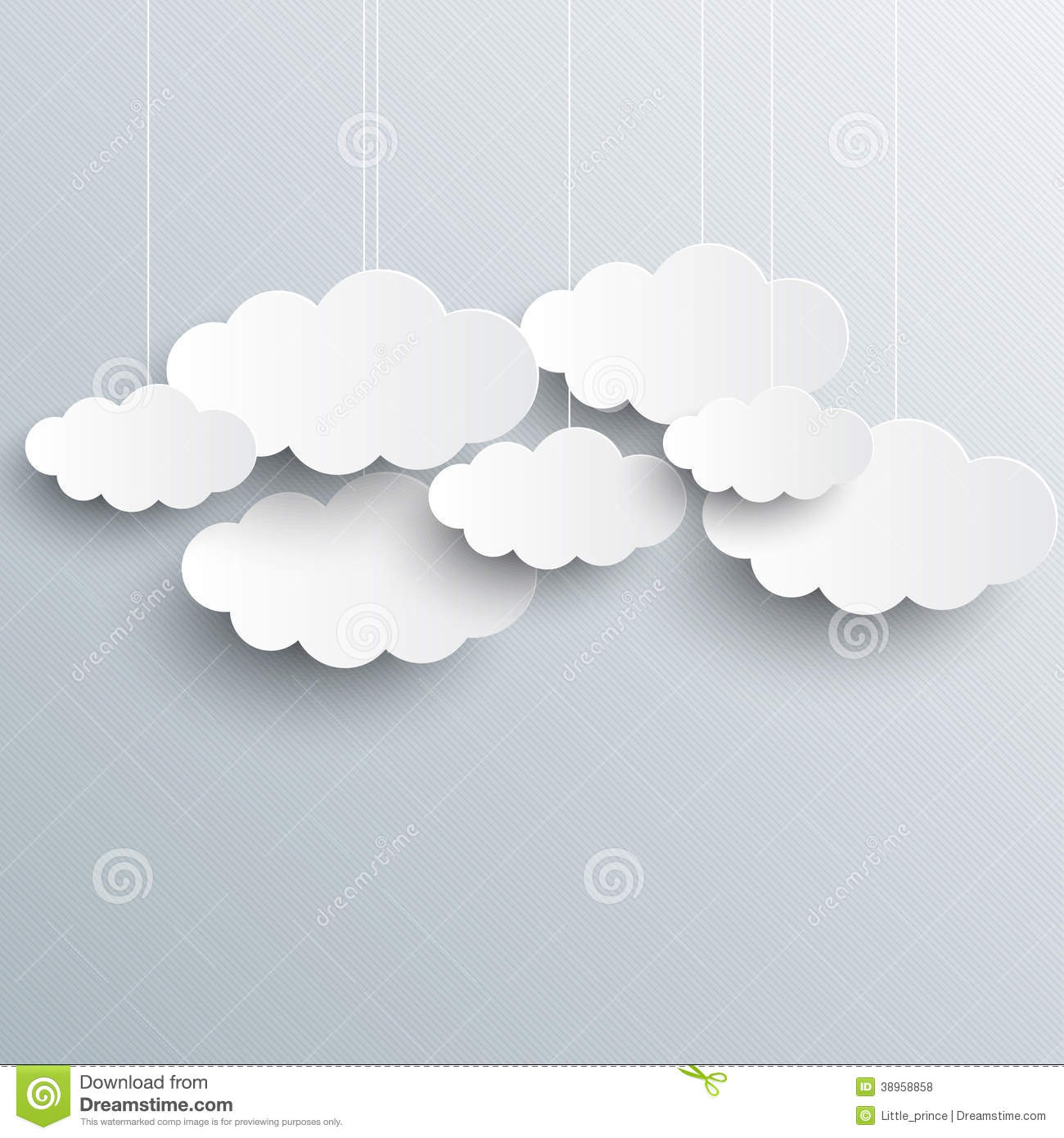 white vector clouds on gray sky background stock vector