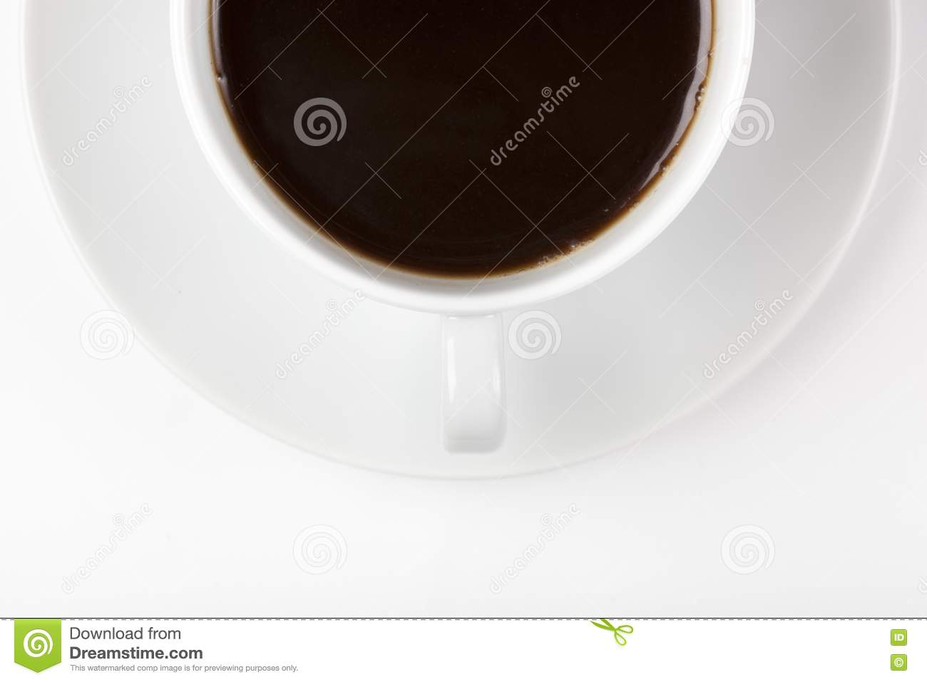 A white coffee cup with brown coffee