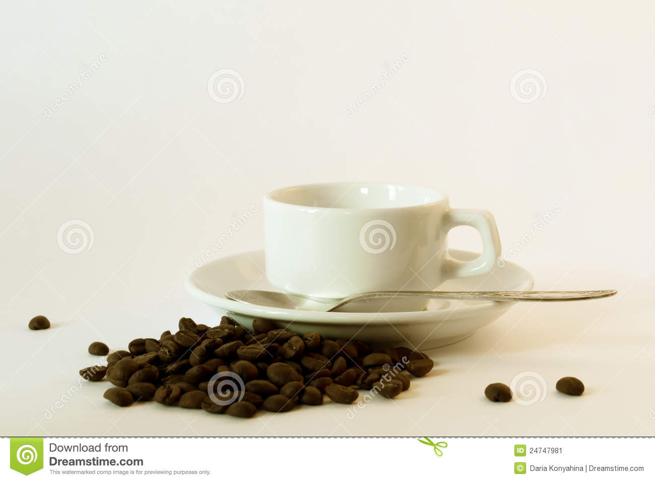 White coffee cup and saucer