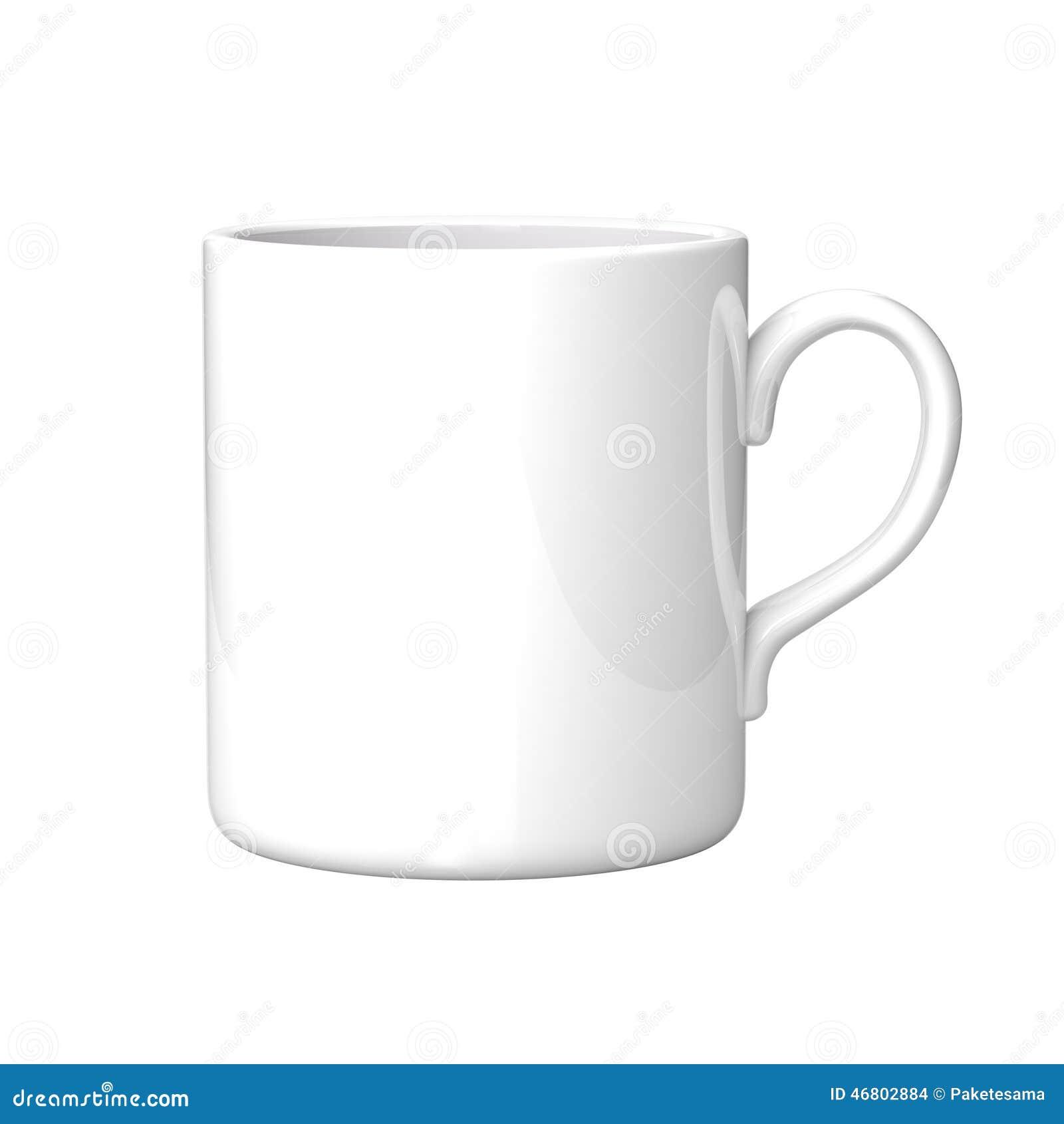 White coffee mug stock illustration. Illustration of brown - 46802884