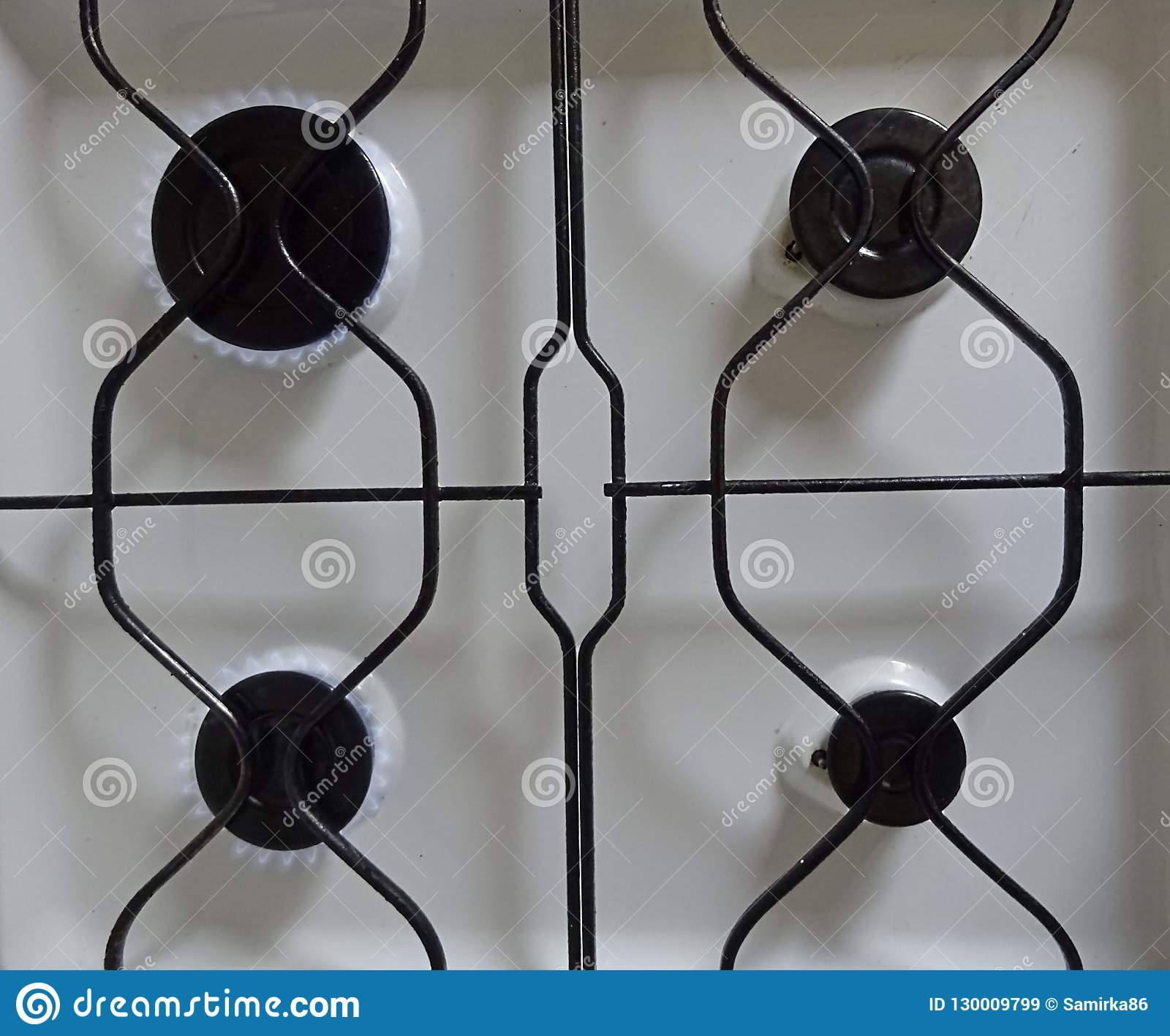 White Color Steel Metal Gas Stove For Cooking On Syn-gas