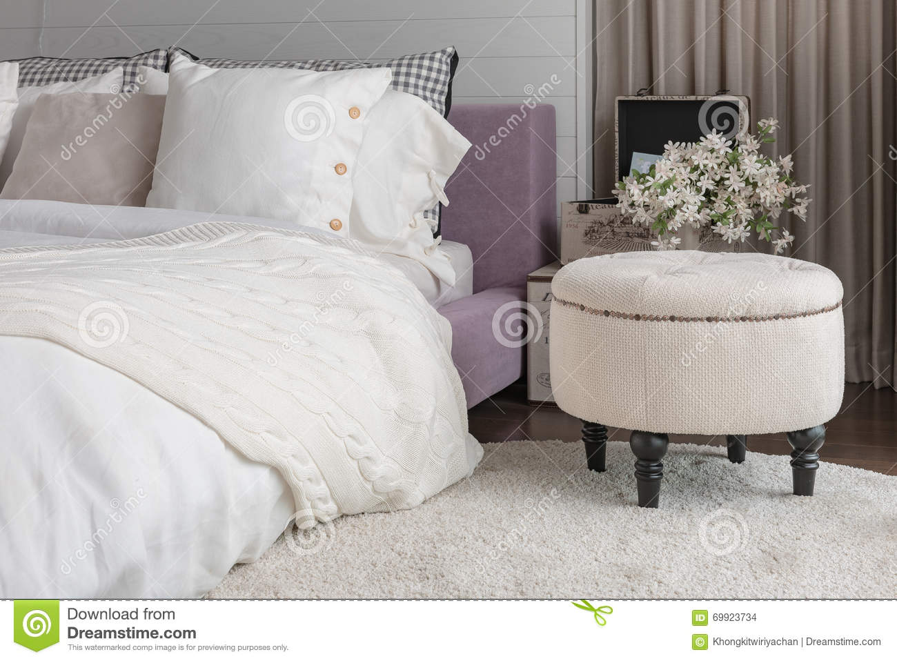 White Color Theme Bedroom Design