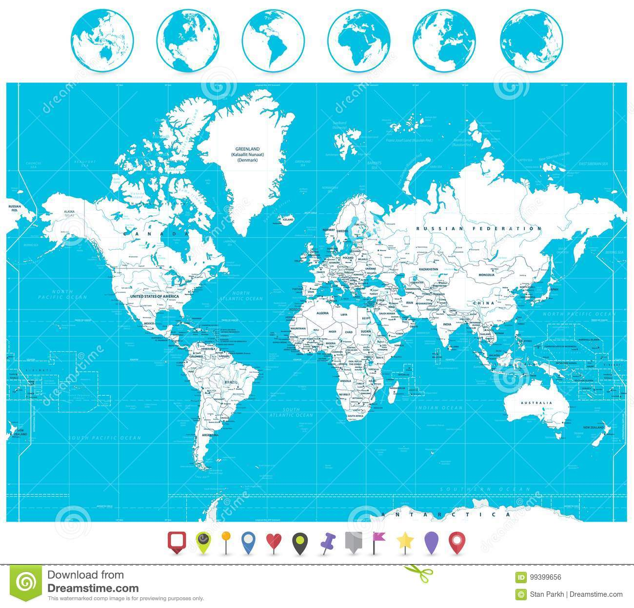 White color world map and navigation icons stock vector white color world map and navigation icons gumiabroncs Gallery