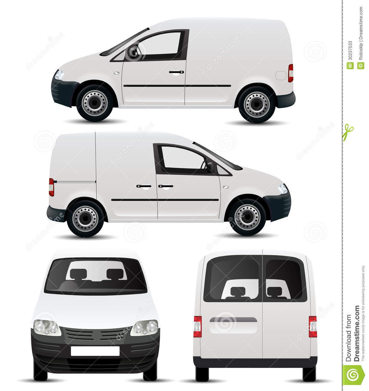 White Commercial Vehicle Mockup Stock Photos Image 30237533