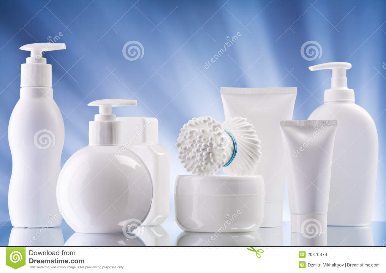 White composition of care supplies