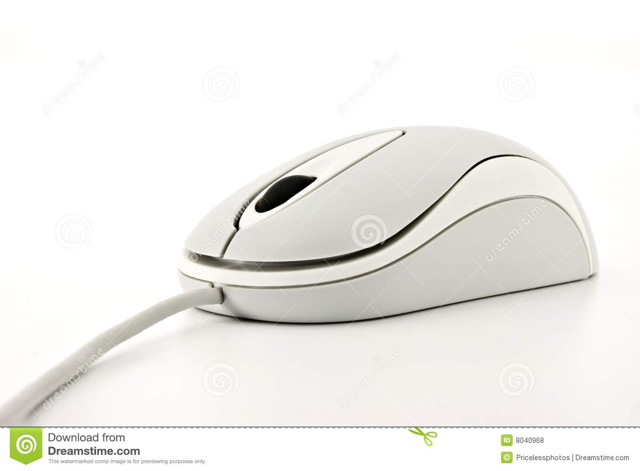 White Computer Mouse Isolated