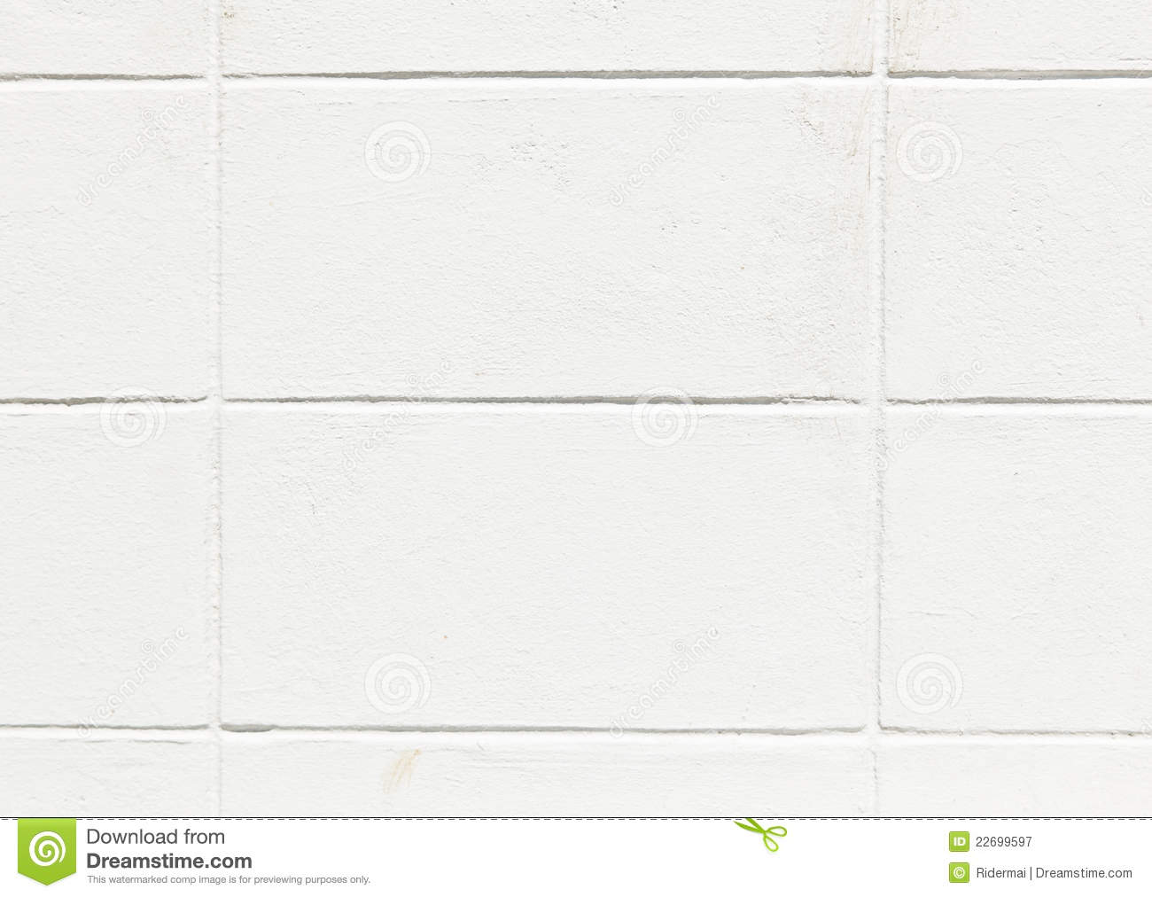 White Concrete Wall : The white concrete block wall royalty free stock