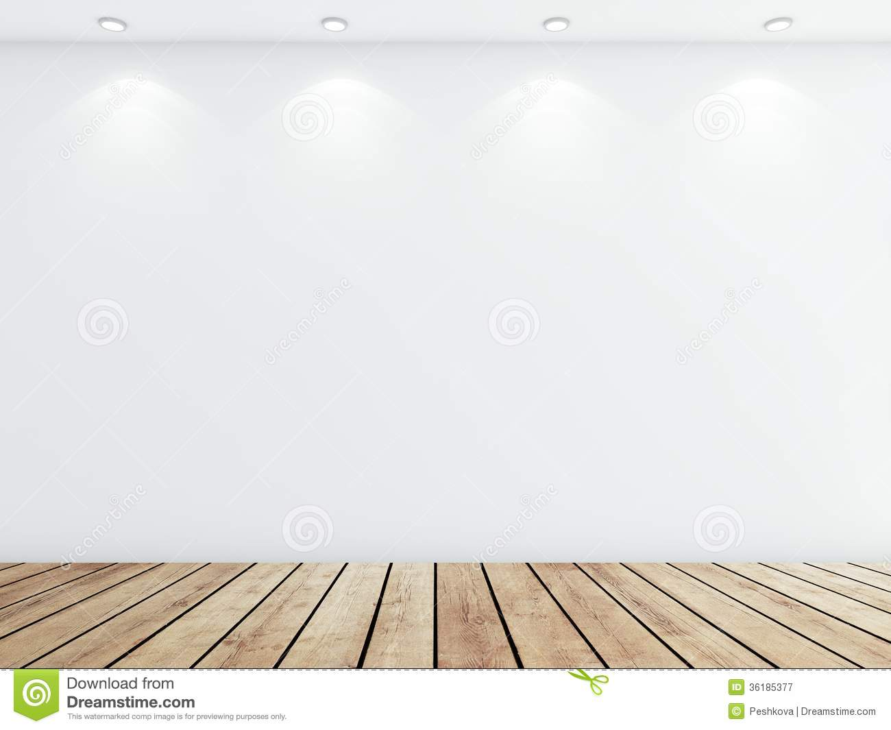White concrete room royalty free stock photography image for Floor and wall