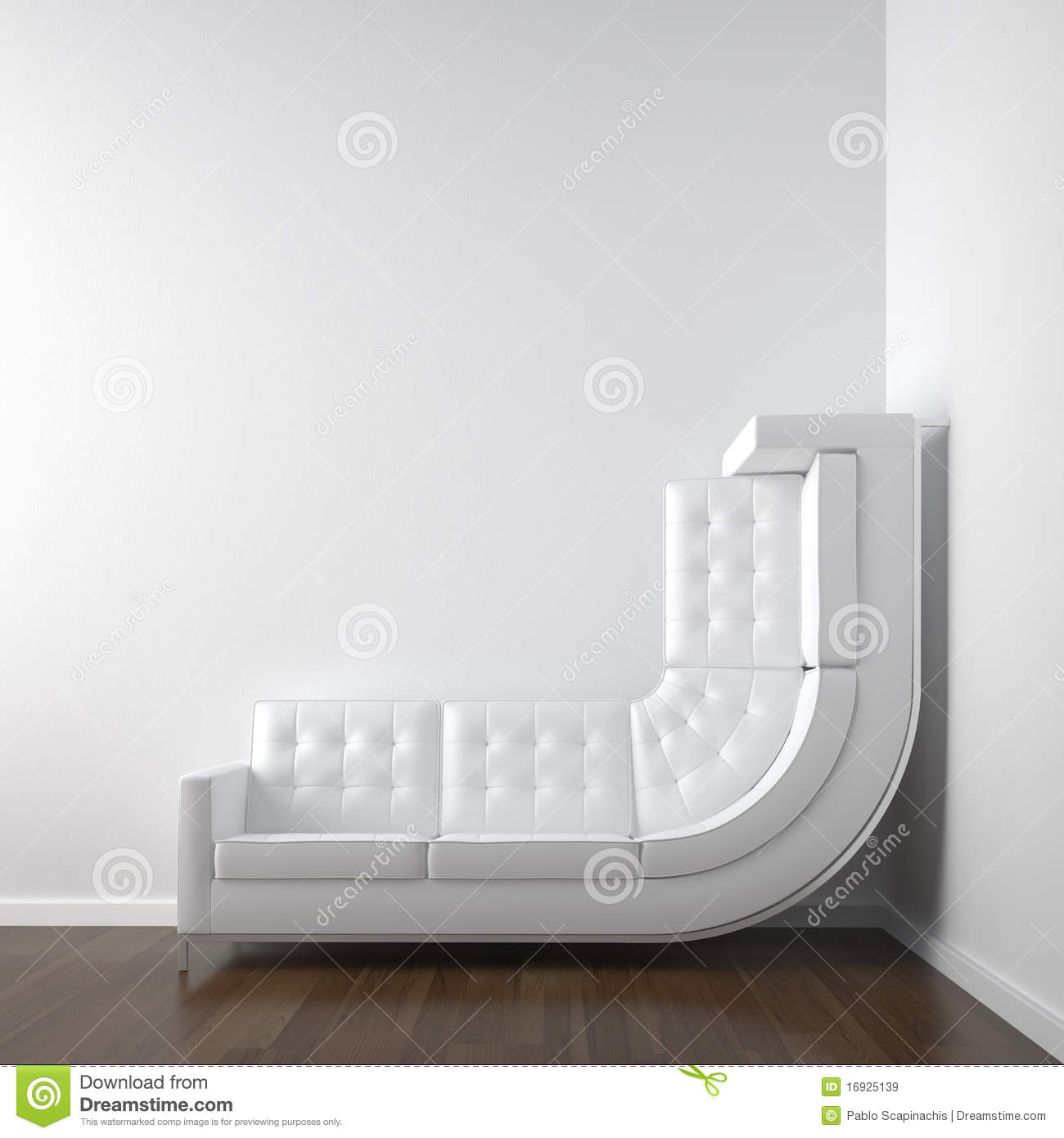 Superb White Corner Room With Couch Stock Illustration Machost Co Dining Chair Design Ideas Machostcouk