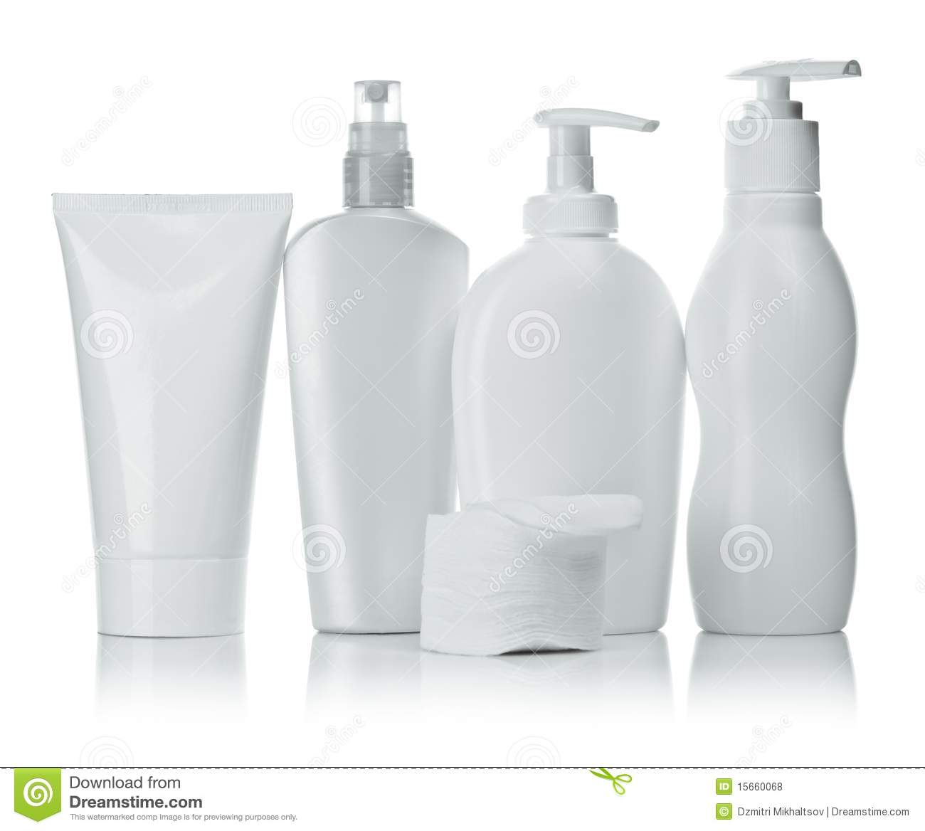 White Cosmetic Containers Royalty Free Stock Photos