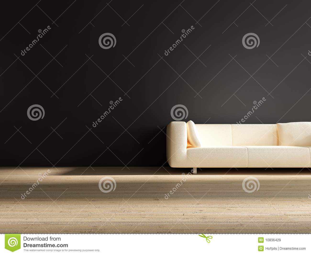 Fine White Couch To Face A Blank Wall Stock Illustration Machost Co Dining Chair Design Ideas Machostcouk
