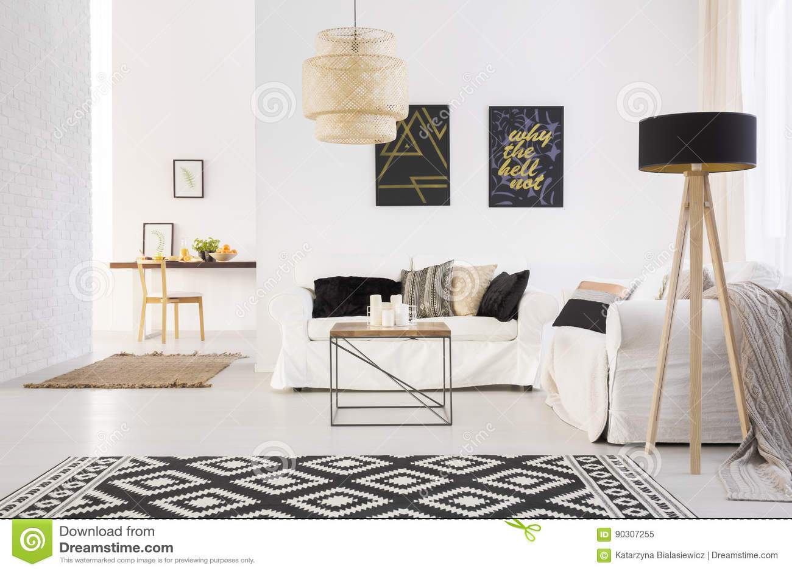 White cozy lounge